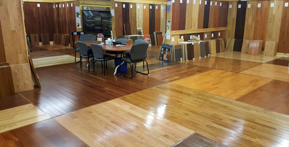 Lifetime hardwood flooring solutions for Showroom flooring ideas