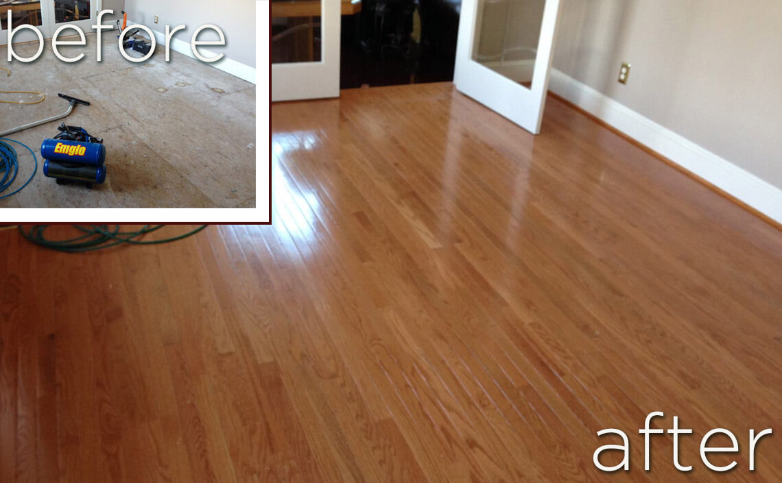 Before after wood flooring home makeovers danhiggins beforeafter solutioingenieria Gallery
