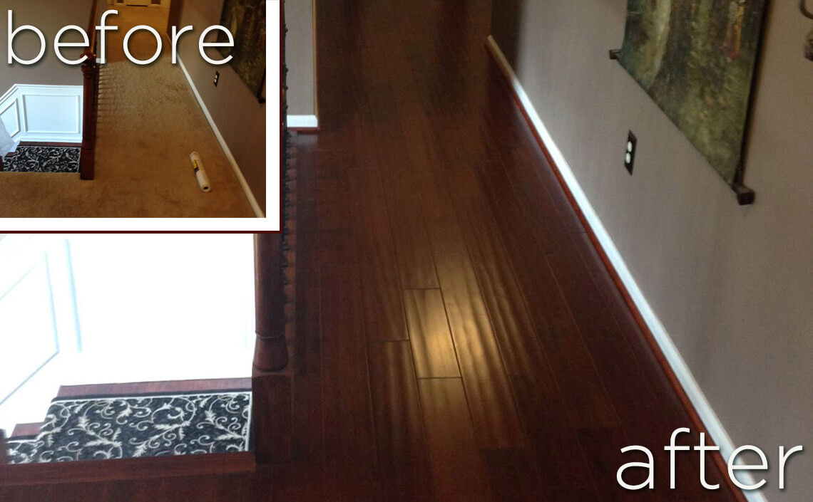 Before after wood flooring home makeovers danhiggins beforeafter solutioingenieria Images