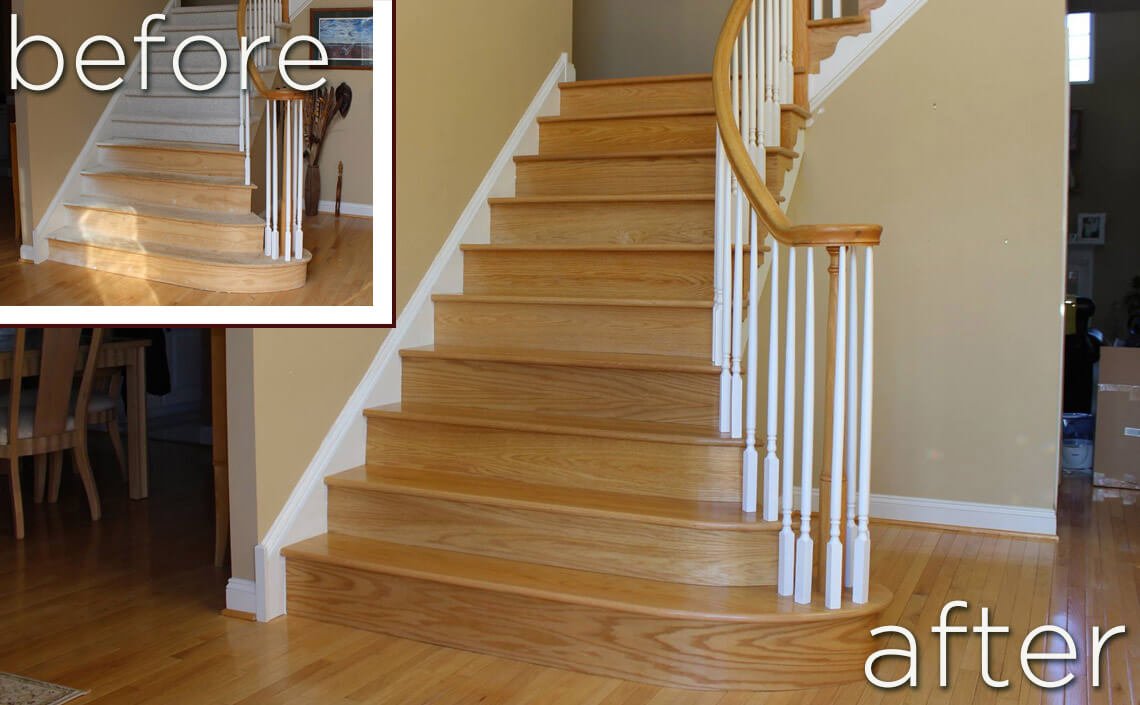 Before Amp After Wood Flooring Home Makeovers Danhiggins Com